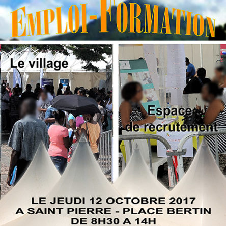 3e EDITION  du VILLAGE EMPLOI-FORMATION à SAINT-PIERRE